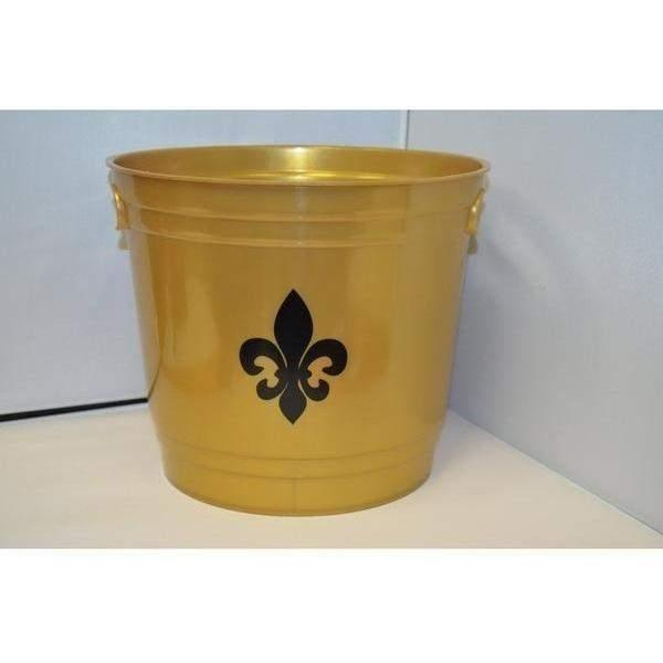 Fleur de Lis Black & Gold Ice Bucket
