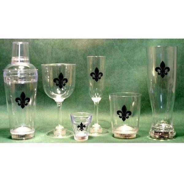 Fleur de Lis Light Up Stemware  - Party Cup Express