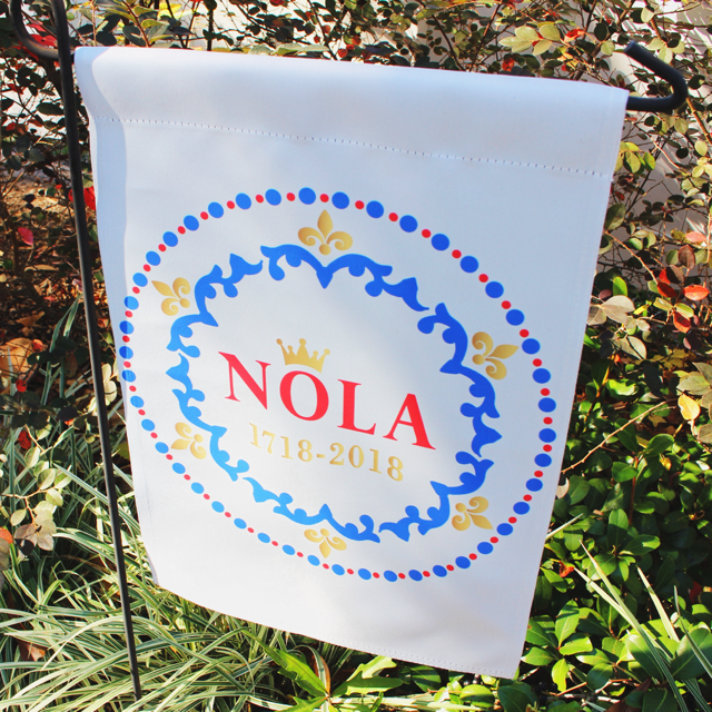 NOLA Tricentennial Garden Flag - Party Cup Express