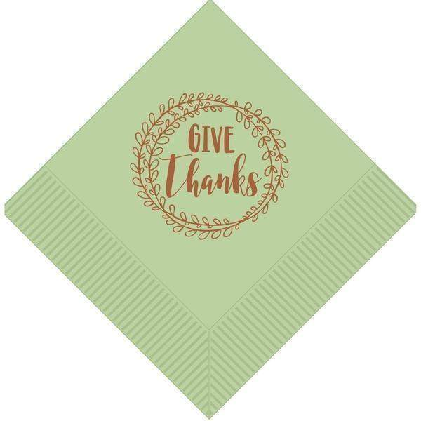 """Give Thanks"" Dinner Napkins"