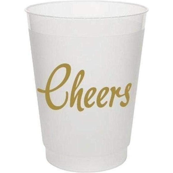 Cheers! Frost Flex Cups (pk/25) - Metallic Gold
