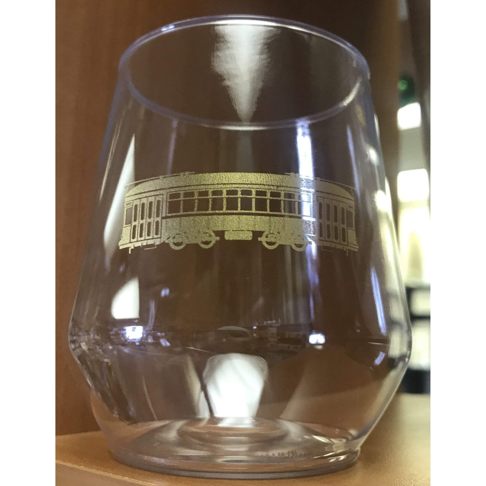 Gold Streetcar Stemless Wine Glasses - Party Cup Express
