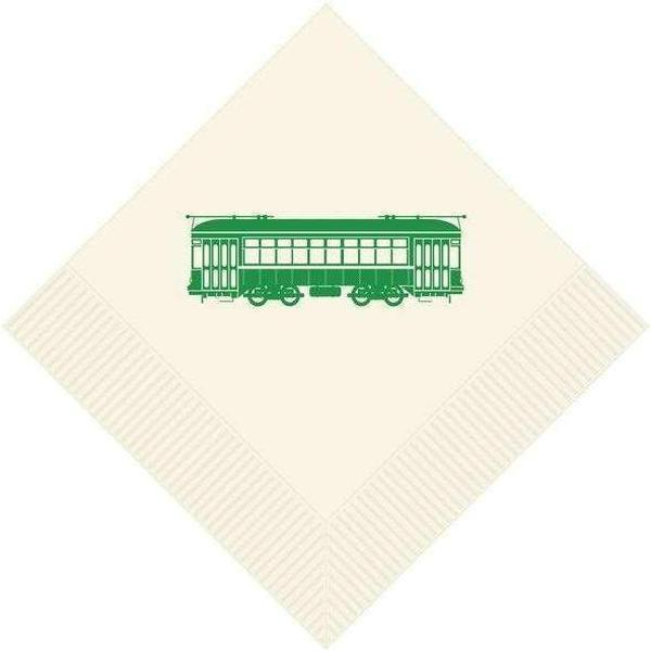 Green Streetcar Napkins & Guest Towels - Party Cup Express