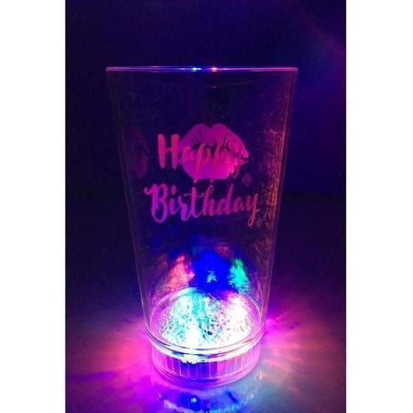 Happy Birthday Kiss Light Up Tumbler - Party Cup Express