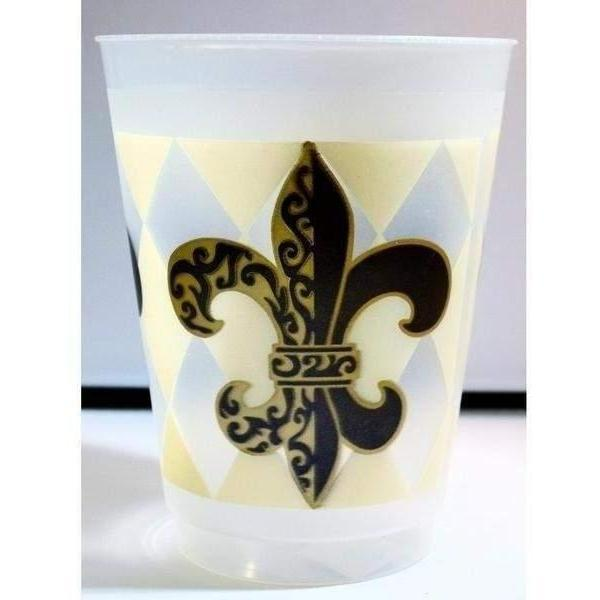 Harlequin Fleur De Lis Frost Flex Cups - Party Cup Express