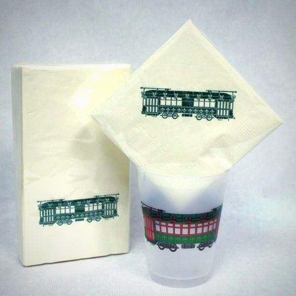 Holiday Streetcar Napkins & Guest Towels (25/pk)