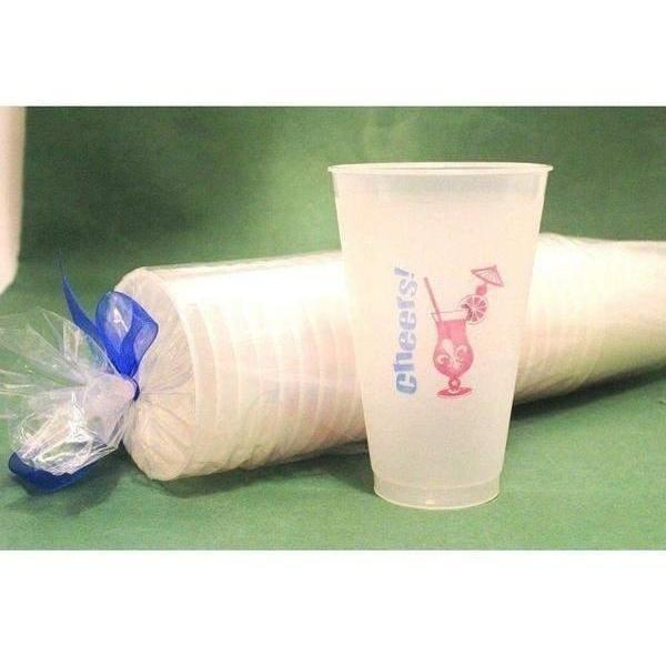 """Cheers"" Hurricane Frost Flex Cups (25/Pk) - Party Cup Express"