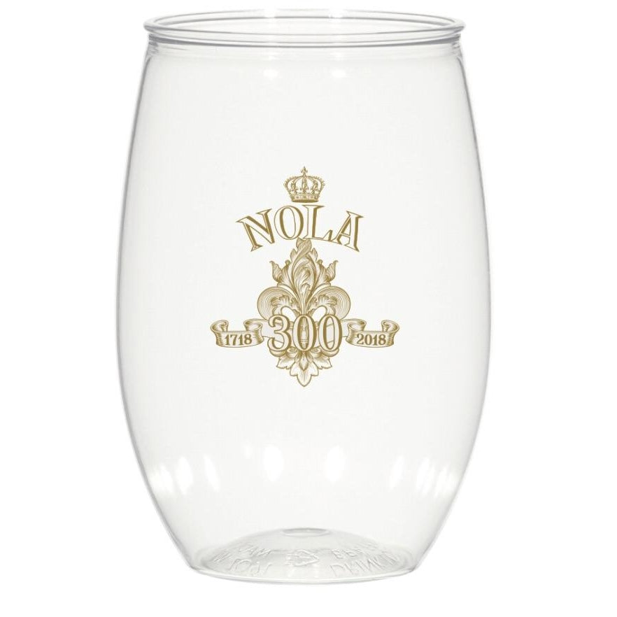 NOLA Tricentennial 16 oz. Stemless Wine Glasses - Party Cup Express