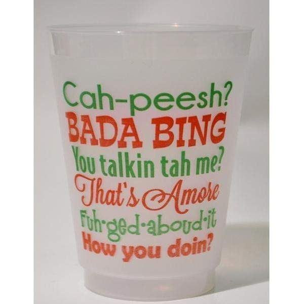 Italian Sayings Frost Flex Cups - Party Cup Express