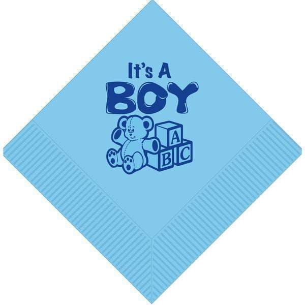 """It's A Boy"" Blocks/Teddy Bear Luncheon Napkins (pk/25)"