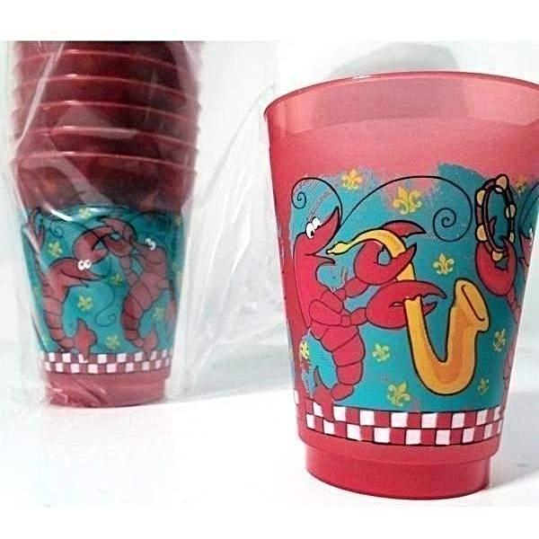 Jazzy Crawfish RED 16oz Frost Flex Cups (25/pk)