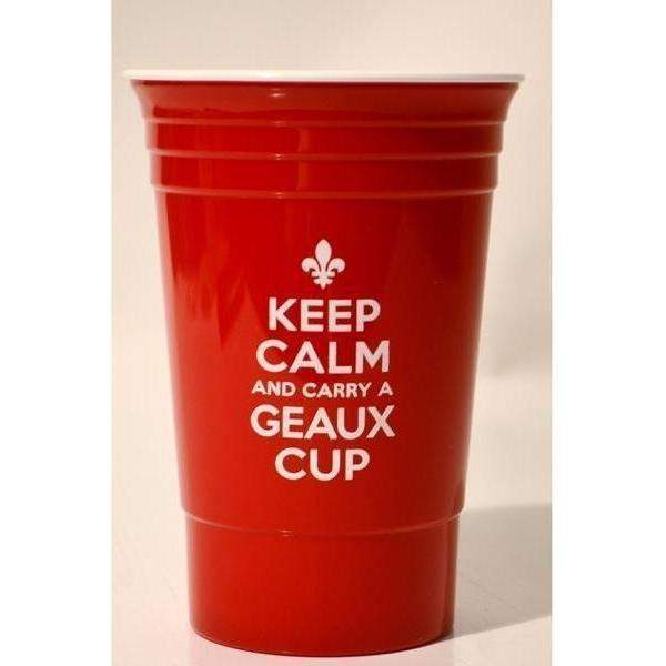 """Keep Calm & Carry a Geaux Cup"" Party Cups - Party Cup Express"