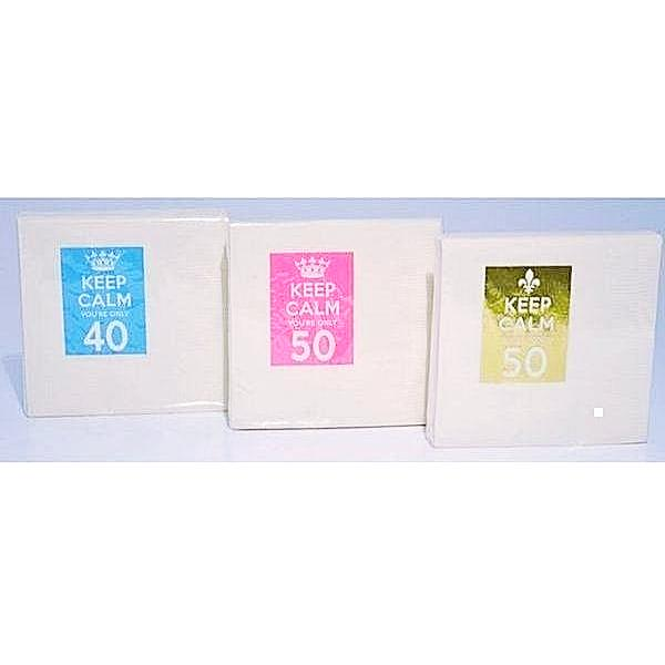 Keep Calm You'Re Only 50 Napkins - Party Cup Express