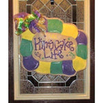 King Cake Mardi Gras Door Hanger