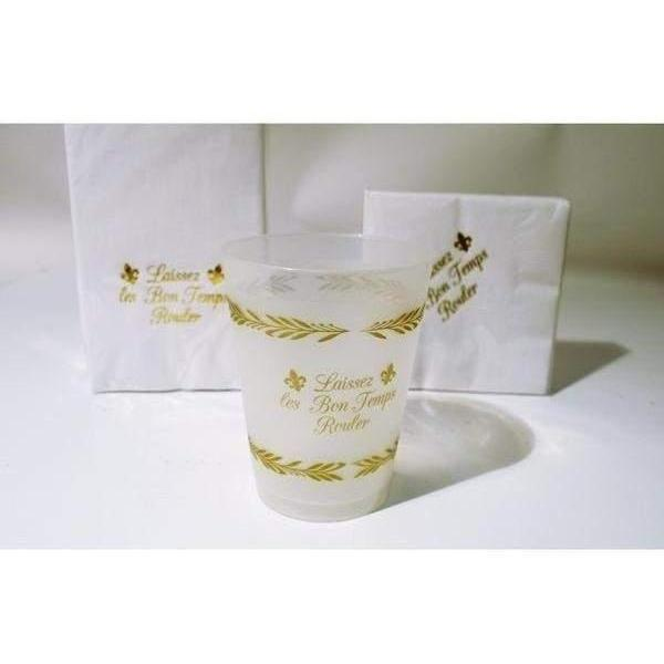 """Laissez Les Bon Temps Rouler"" Frost Flex Cups - Party Cup Express"
