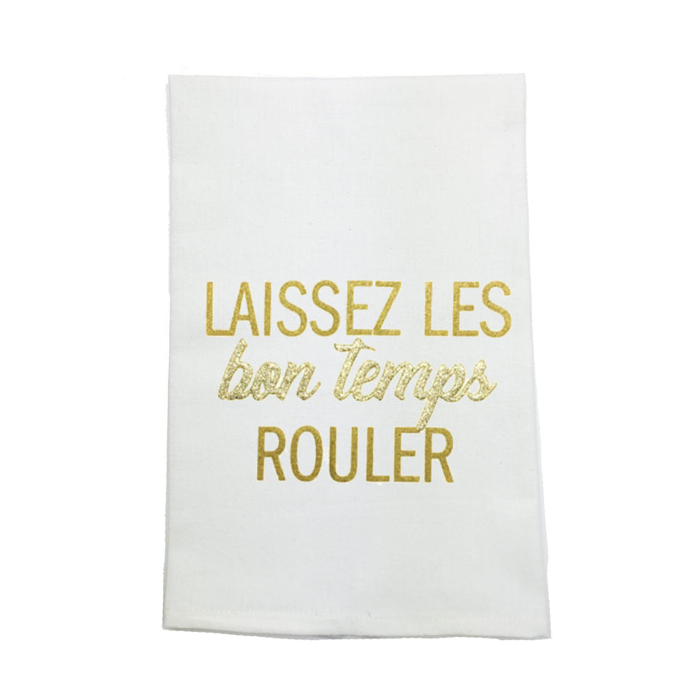 """Laissez Les Bon Temps Rouler"" Kitchen Towel - Party Cup Express"