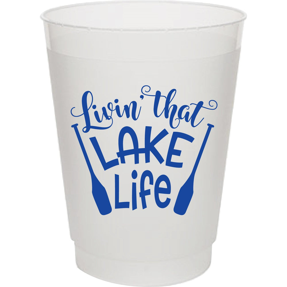 Livin That Lake Life (pk of 25) 16oz frost flex cups