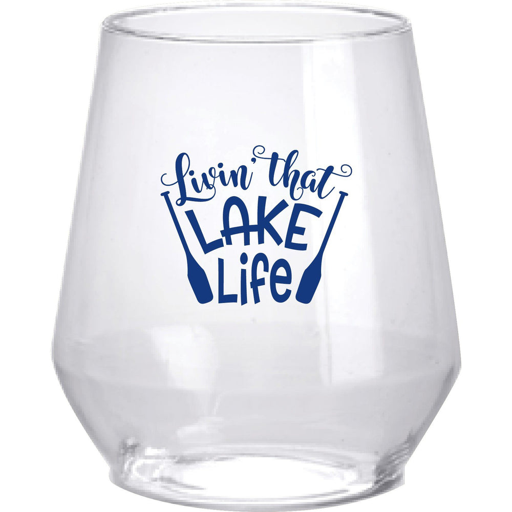 Lake Life 12oz stemless wine (pk of 6)
