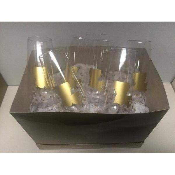 Louisiana ♥ NOLA Stemless Champagne Flutes - Party Cup Express