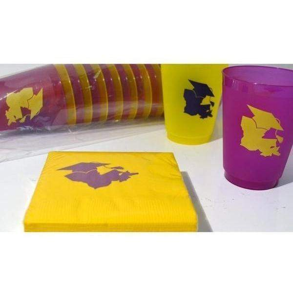 Lsu Graduation Beverage Napkins - Party Cup Express