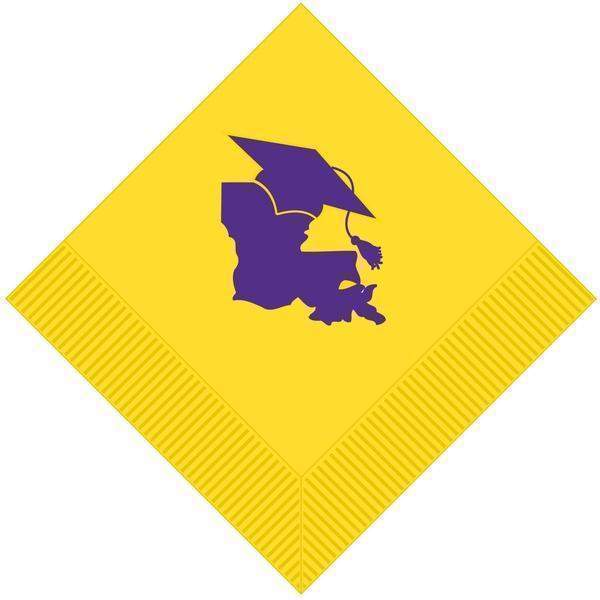 Lsu Graduation Beverage Napkins