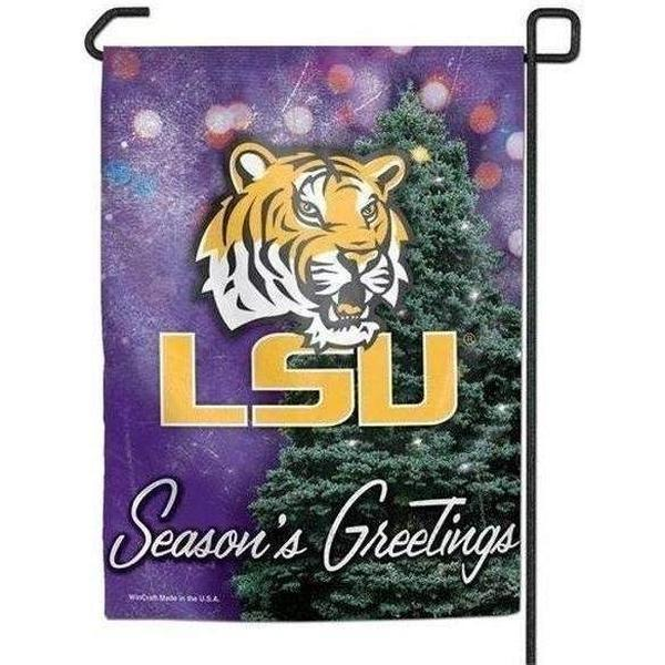 LSU Holiday Garden Flag