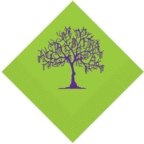 Mardi Gras Bead Tree Beverage Napkins - Party Cup Express