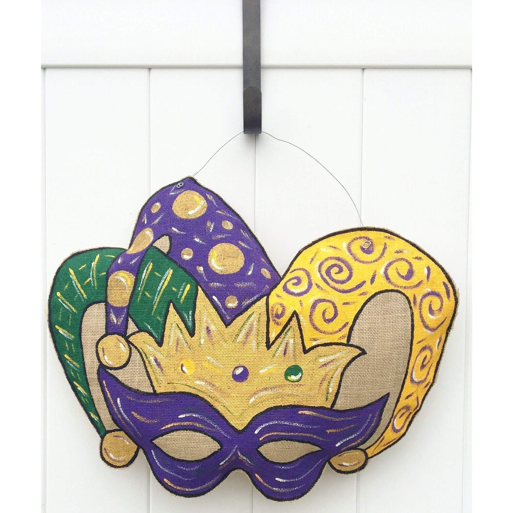 Mardi Gras Jester Door Hanger - Party Cup Express