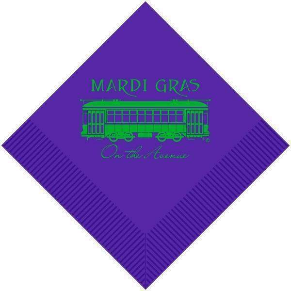 Mardi Gras On The Avenue Napkins (Pk 25) - Party Cup Express