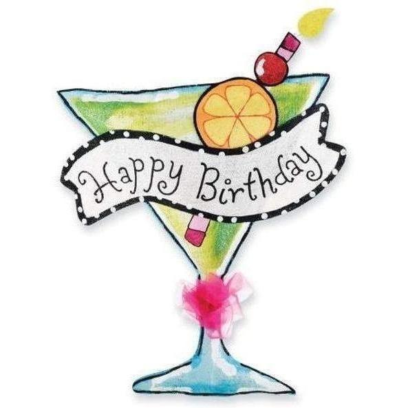 Happy Birthday Martini Door Hanger