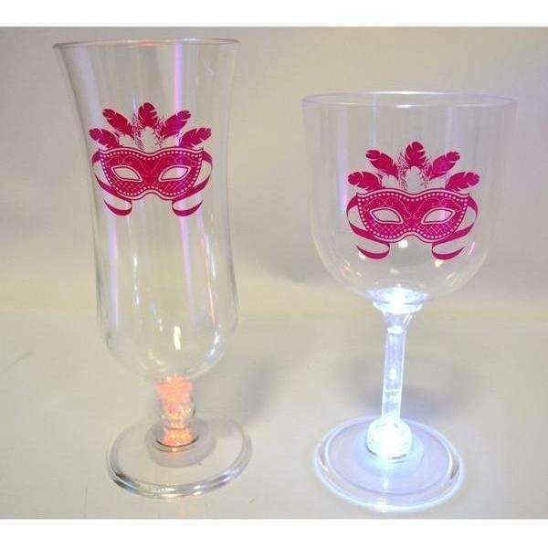 Mask Light Up Stemware - Party Cup Express