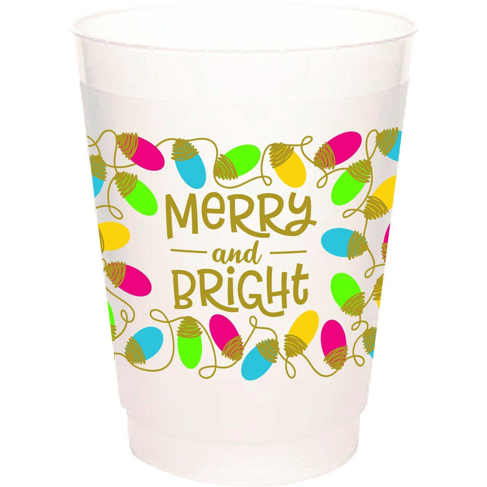 Merry and Bright 16oz frost flex cups (pk of 25)