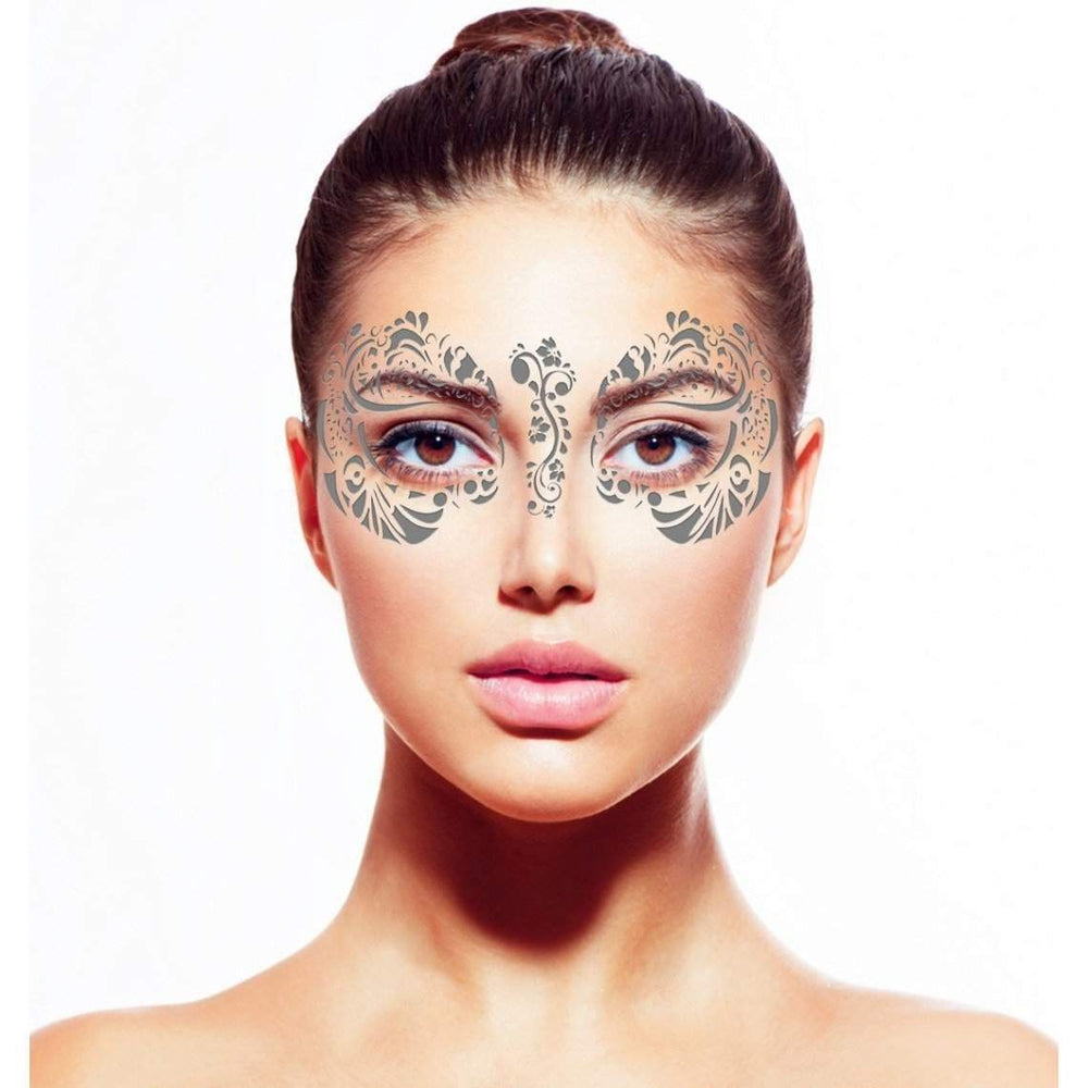 Metallic Silver Temporary Tattoo