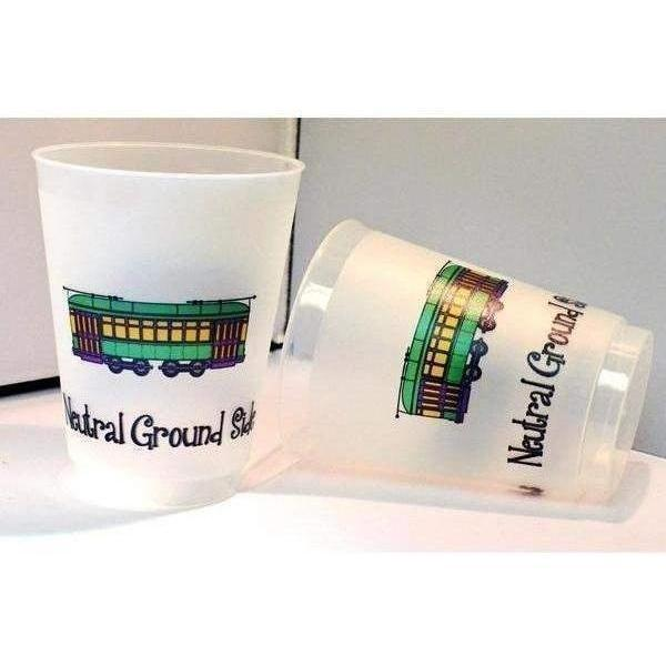 Neutral Ground Side Frost Flex Cups - Party Cup Express