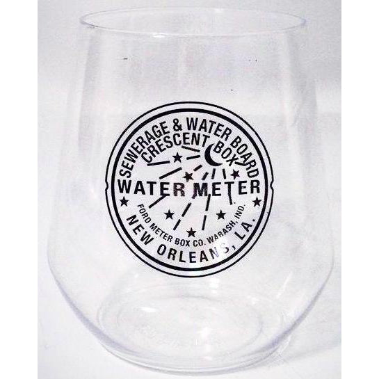 New Orleans Watermeter Stemless Wine Glasses