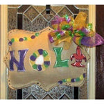 NOLA Burlap Door Hanger - Party Cup Express
