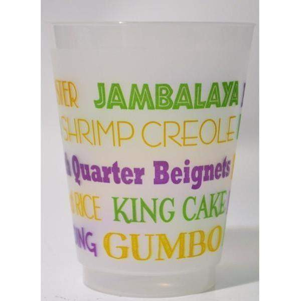 Nola Food Sayings Frost Flex Cups (pk/25) - Party Cup Express
