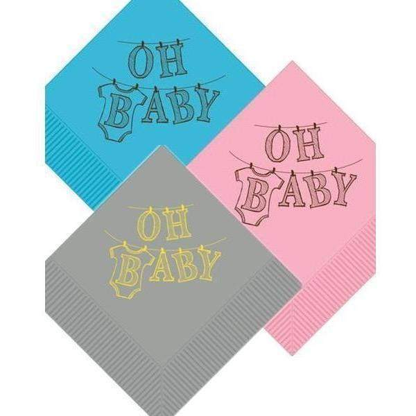 OH BABY Beverage Napkins (3 color options)