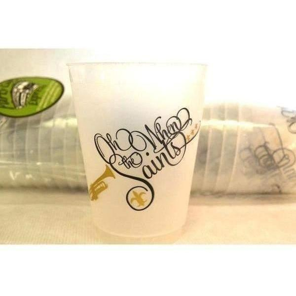"""Oh When The Saints..."" 16 Oz Frost Flex Cups - Party Cup Express"