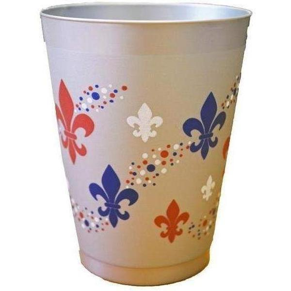 Patriotic Multi Fleur De Lis Frost Flex Cup - Party Cup Express