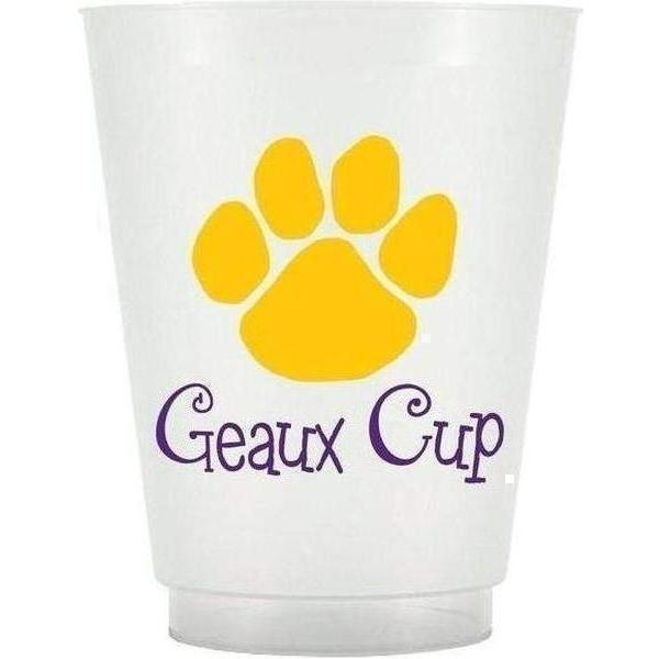 "Paw Print 16 Oz Frost Flex ""Geaux Cup"" - Party Cup Express"
