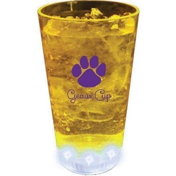 "Paw Print ""Geaux Cup"" 16 oz Light Up Tumbler - Party Cup Express"