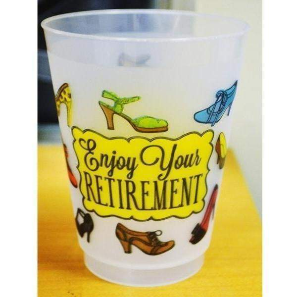 """Enjoy Your Retirement"" 16oz Frost Flex Cups (pk/25)"