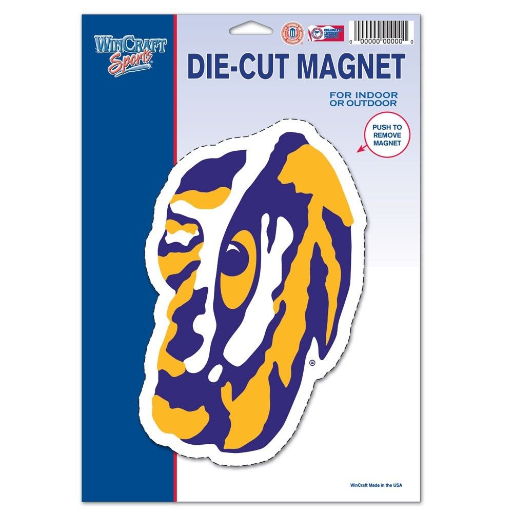 LSU Die Cut Magnet - Party Cup Express