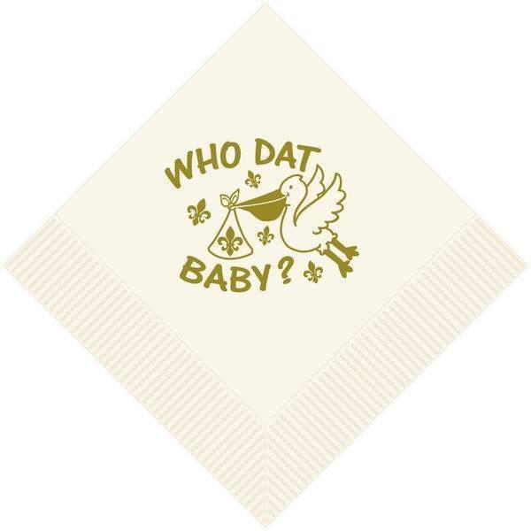 Saints Baby Beverage Napkins - Party Cup Express