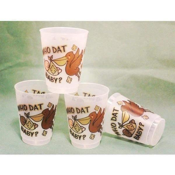 Saints Baby Frost Flex Cups (25Pk) - Party Cup Express