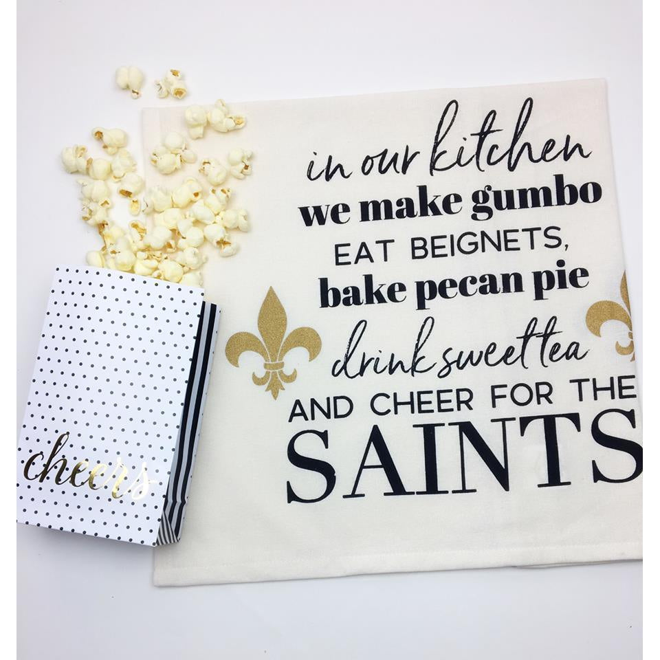 """Cheer for the Saints"" Kitchen Towel"