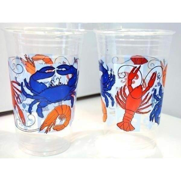 Seafood Boil Clear Disposable Cups - Party Cup Express
