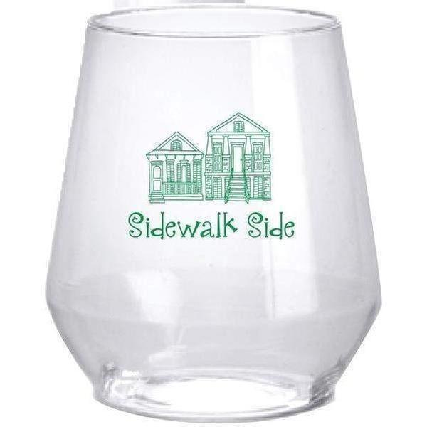 Sidewalk Side Stemless Wine Glasses - Party Cup Express