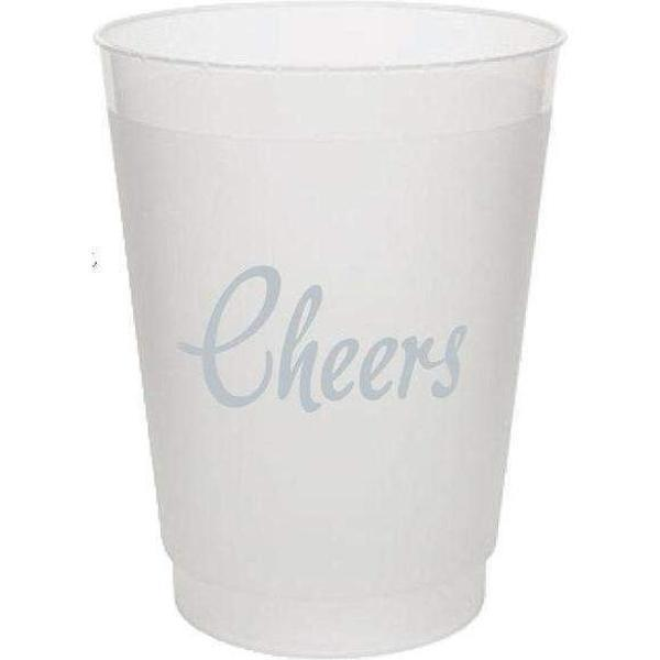 Cheers! Frost Flex Cups (pk/25) - Metallic Silver - Party Cup Express